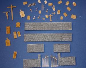 Nach der Grundierung der Mauersegmente