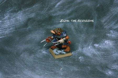 Slink the Assassin, ein Talisman-Modell, angepasst an Mortheim
