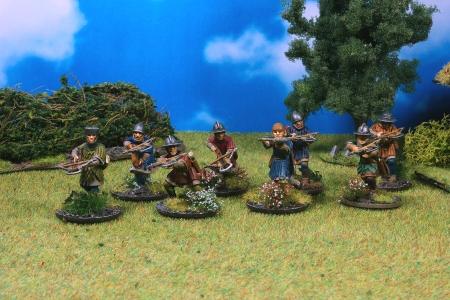 Krieger - zu Fuß und mit Armbrüsten für den Fernkampf der Normannen