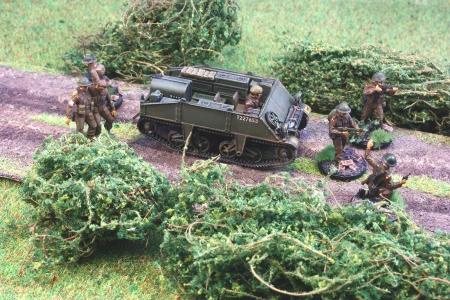 ...mit abgesessener Infanterie...
