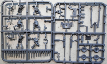 Gußrahmen der Pak und der Besatzung / Kleinteile