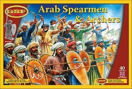 Arabische Speerträger und Bodenschützen
